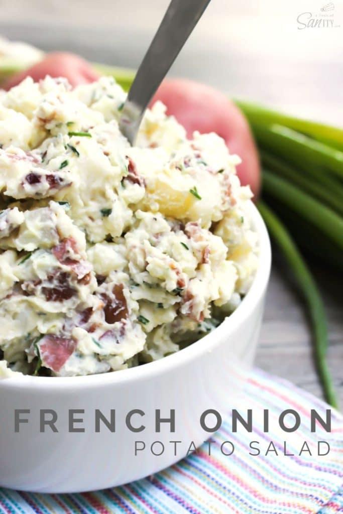 French Onion Potato Salad Pin