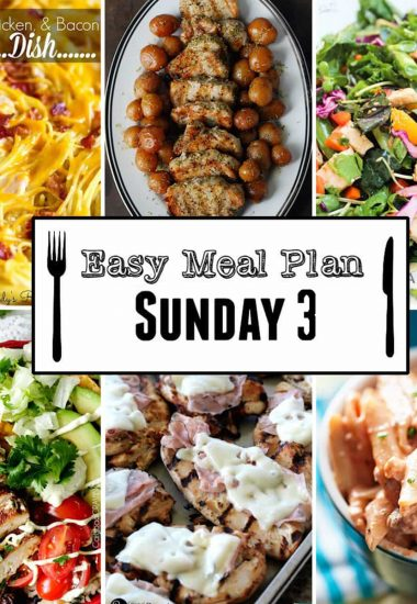 Easy Meal Plan Sunday {Week 3}