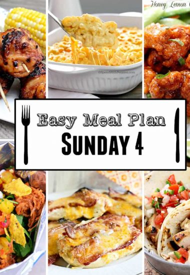 Easy Meal Plan Sunday {Week 4}