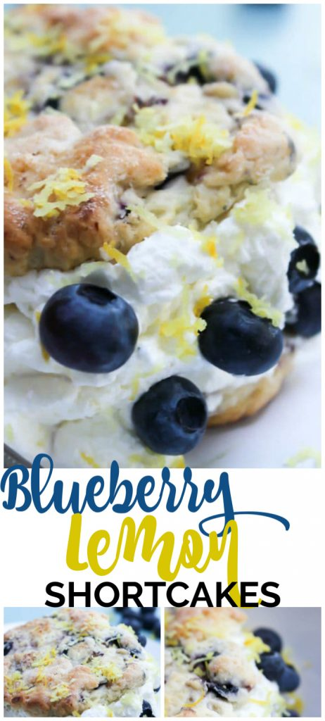 Blueberry Lemon Shortcakes pinterest image
