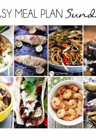 Easy Meal Plan Sunday {Week 9}