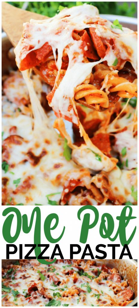 One Pot Pizza Pasta pinterest image