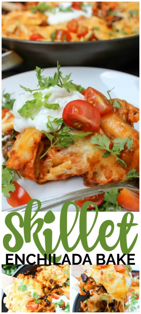 Skillet Enchilada Bake pinterest image