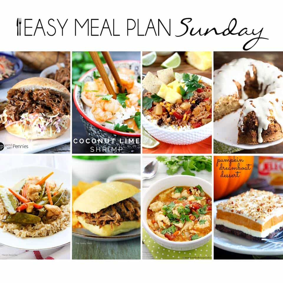 Easy Meal Plan Sunday {Week 13}