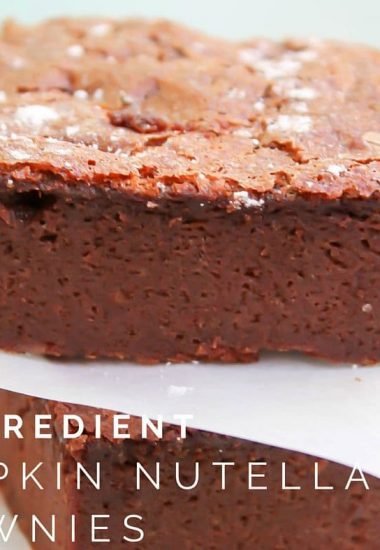 4-Ingredient Pumpkin Nutella Brownies – Gluten Free
