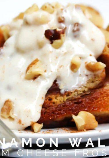 Cinnamon Walnut Cream Cheese Frosting
