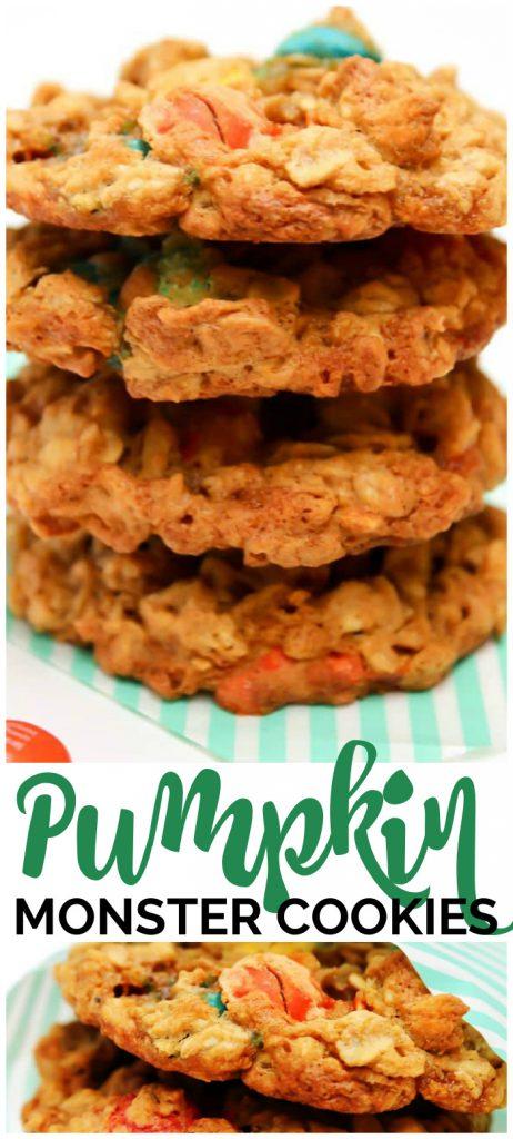 Pumpkin Monster Cookies pinterest image