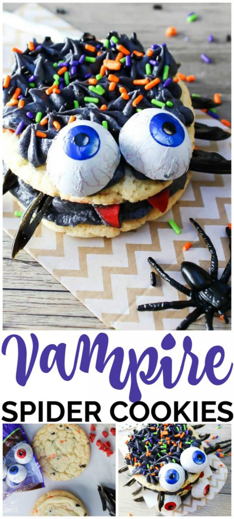 Vampire Spider Cookies pinterest image