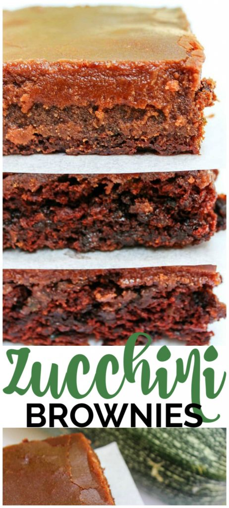 Zucchini Brownies pinterest image