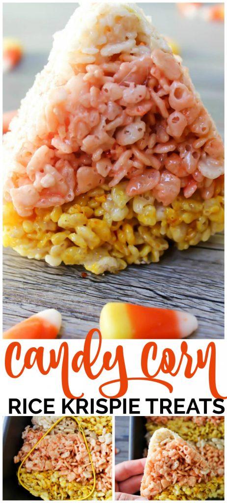 Candy Corn Rice Krispies Treats pinterest image