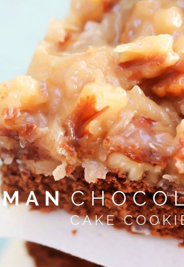 German Chocolate Cake Cookie Bars