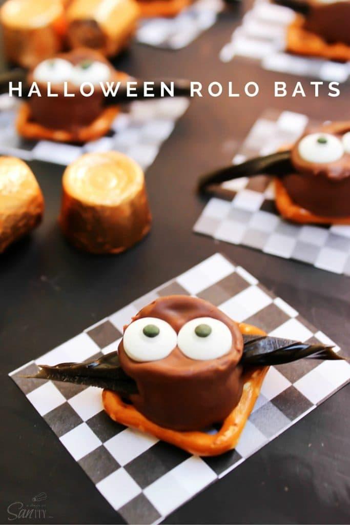 Halloween Rolo Bats Pin