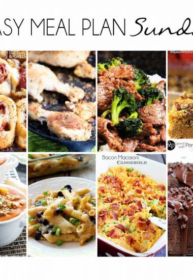 Easy Meal Plan Sunday {Week 16}