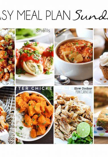 Easy Meal Plan Sunday {Week 18}