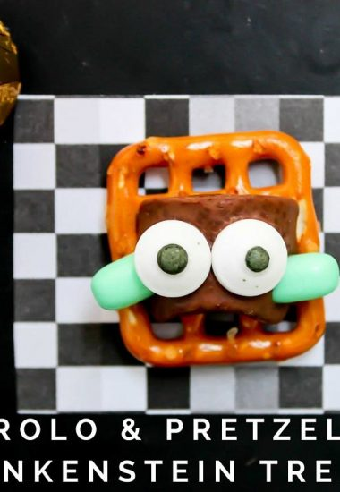Rolo & Pretzel Frankenstein Treats