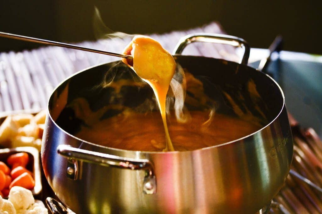 Aged Cheddar Fondue, Steamy Kitchen
