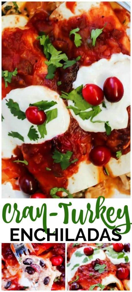 Cranberry-Turkey Enchiladas pinterest image