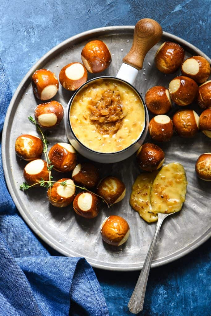 French Onion Cheese Fondue