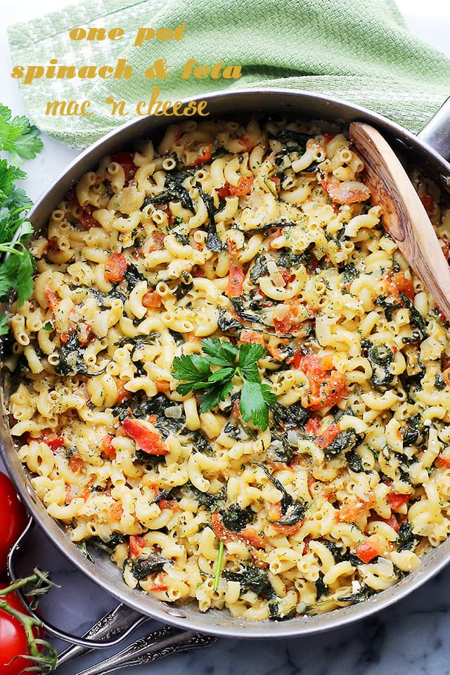 One-Pot-Spinach-and-Feta-Macaroni-and-Cheese