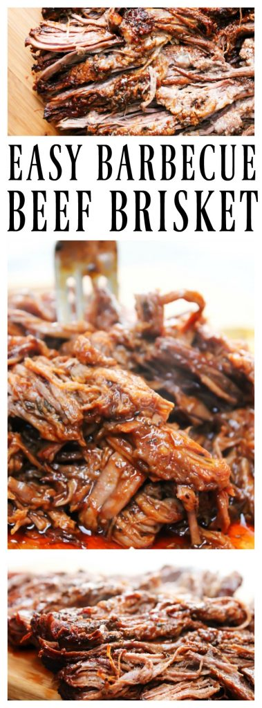 EASY BARBECUE BEEF BRISKET a simple recipe for the best brisket you will make at home.