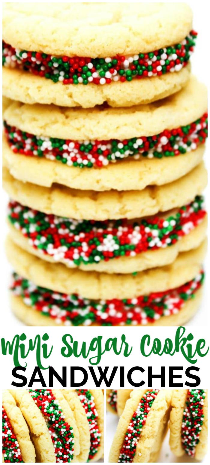 Mini Sugar Cookie Sandwiches - A Dash of Sanity