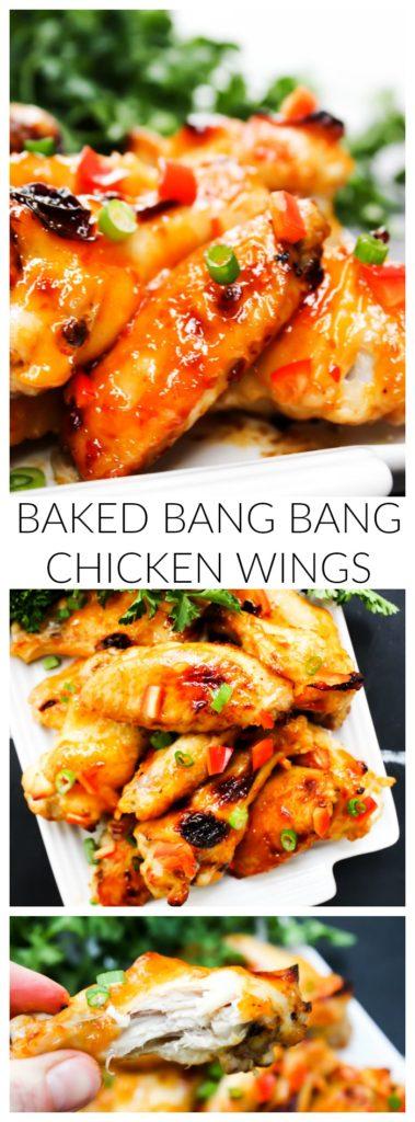 Baked Bang Bang Chicken Wings LONG PIN