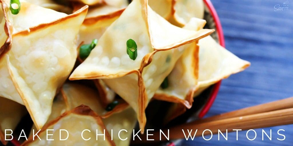 Baked Chicken Wontons TWITTER