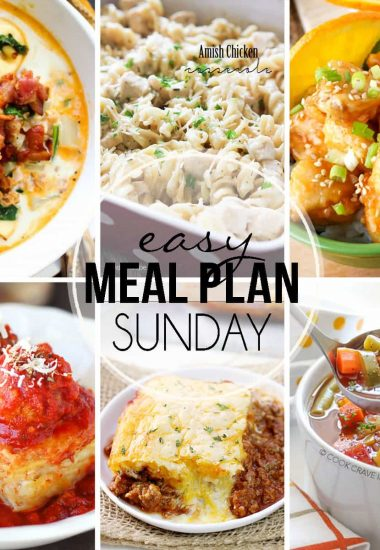 Easy Meal Plan Sunday {Week 29}