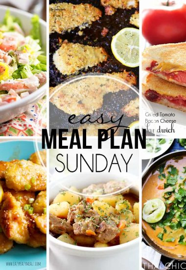 Easy Meal Plan Sunday {Week 30}