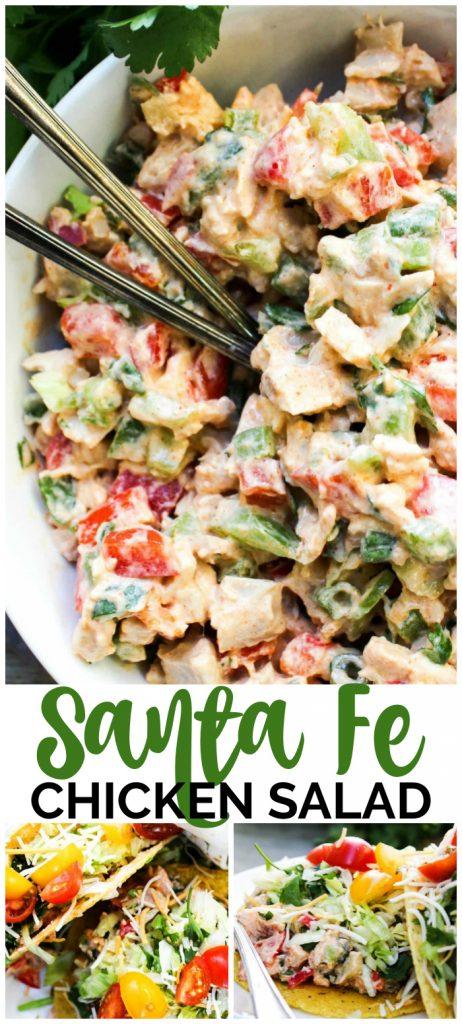 Santa Fe Chicken Salad pinterest image