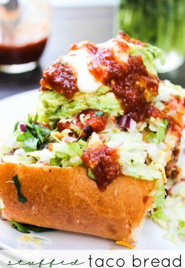 Stuffed Taco Bread & Kitchen Hack: Easy Guacamole