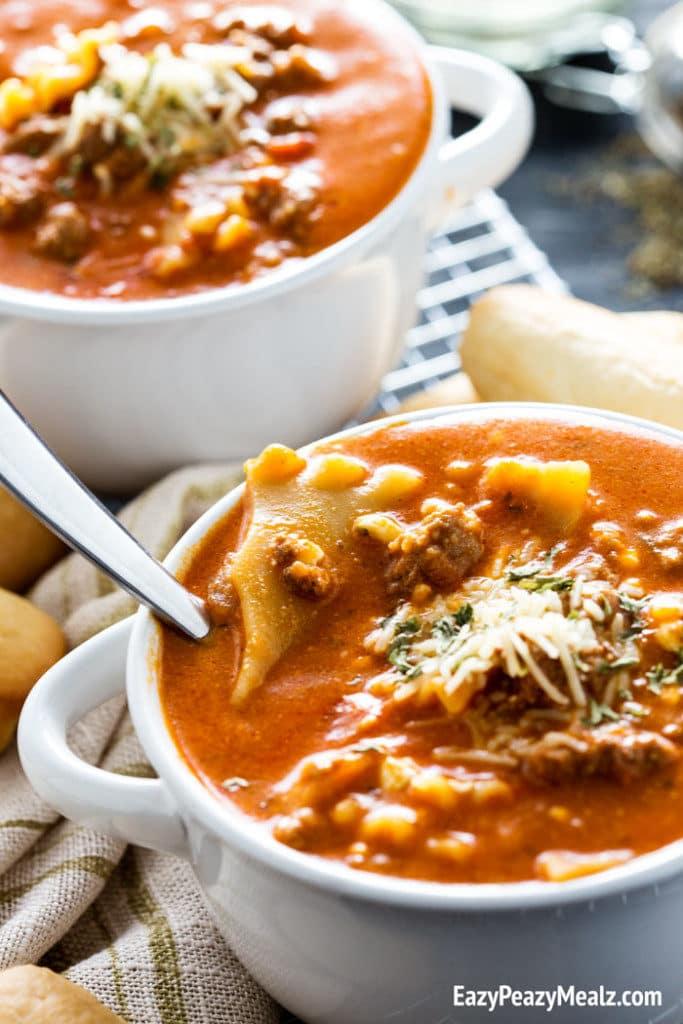 Lasagna Soup - Eazy Peazy