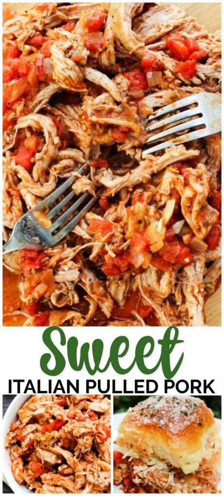 Sweet Italian Pulled Pork pinterest image