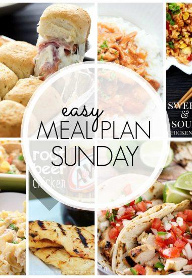 Easy Meal Plan Sunday {Week 43}