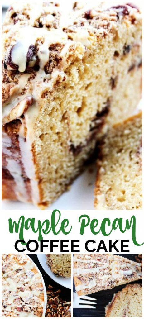 Maple Pecan Coffee Cake pinterest image