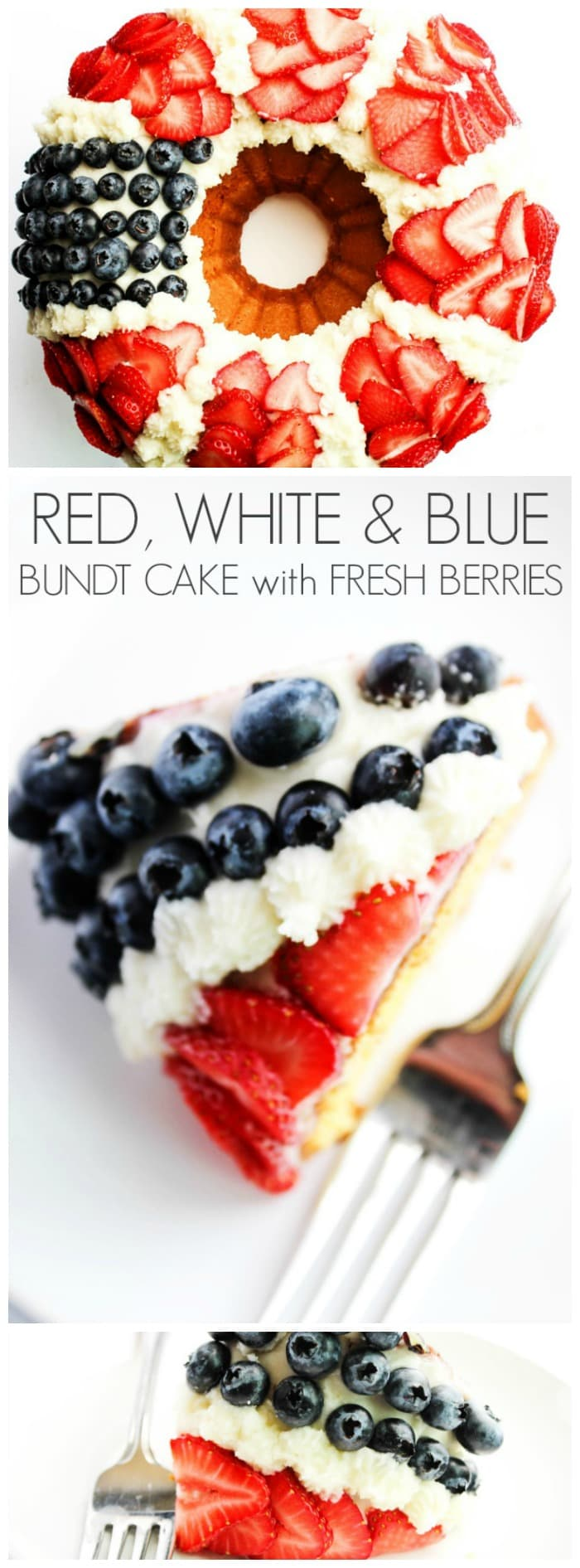 Vanilla Bundt Cake With Strawberries