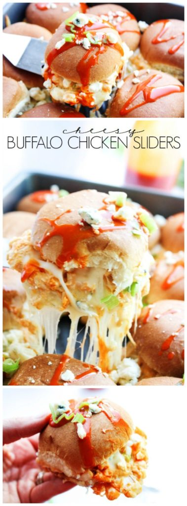 Cheesy Buffalo Chicken Sliders LONG PIN