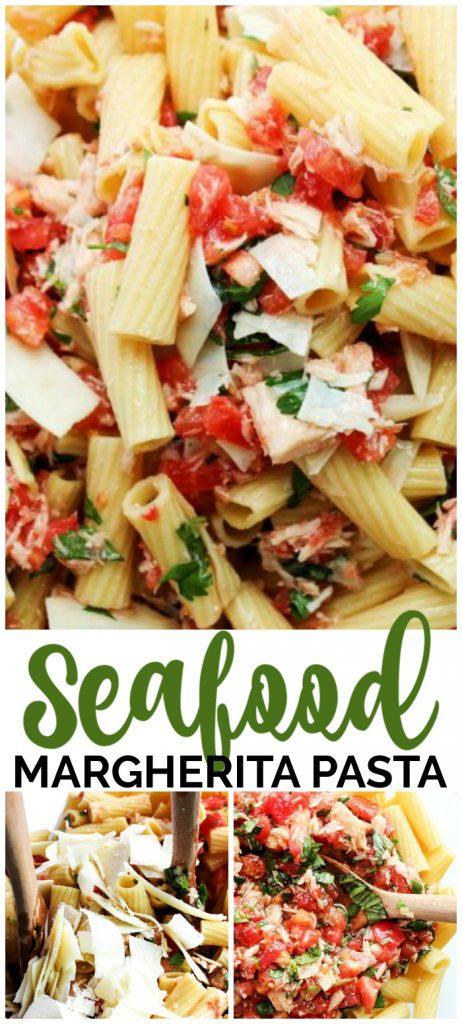 Seafood Margherita Pasta pinterest image
