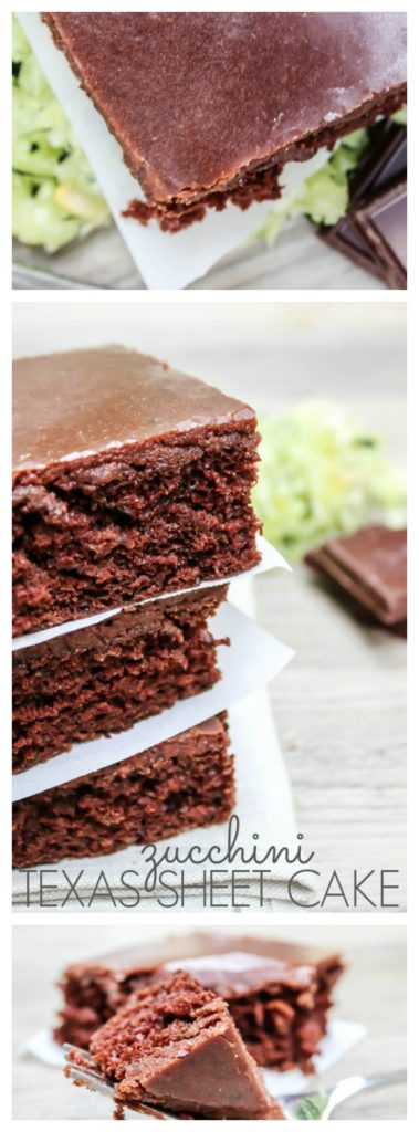 ZucchZucchini Texas Sheet Cake is a crowd pleasing chocolate zucchini cake with a deliciously rich buttermilk chocolate frosting.