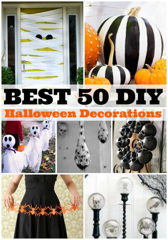 best 50 diy halloween decorations a dash of sanity. Black Bedroom Furniture Sets. Home Design Ideas
