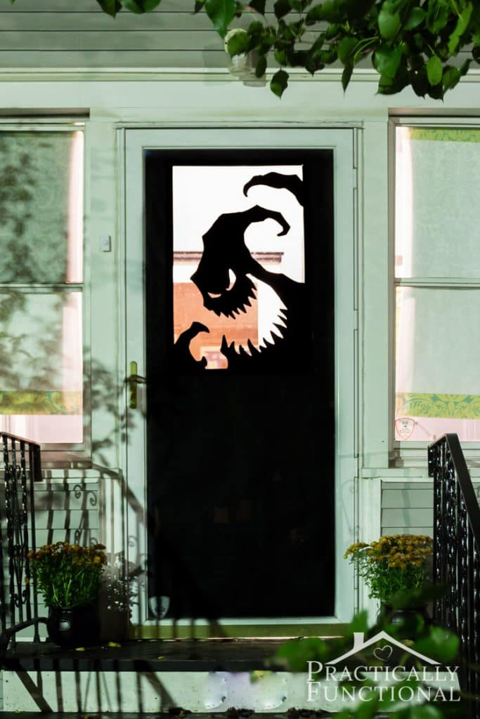 Best 50 diy halloween decorations a dash of sanity diy vinyl halloween door decorations 3 solutioingenieria Images