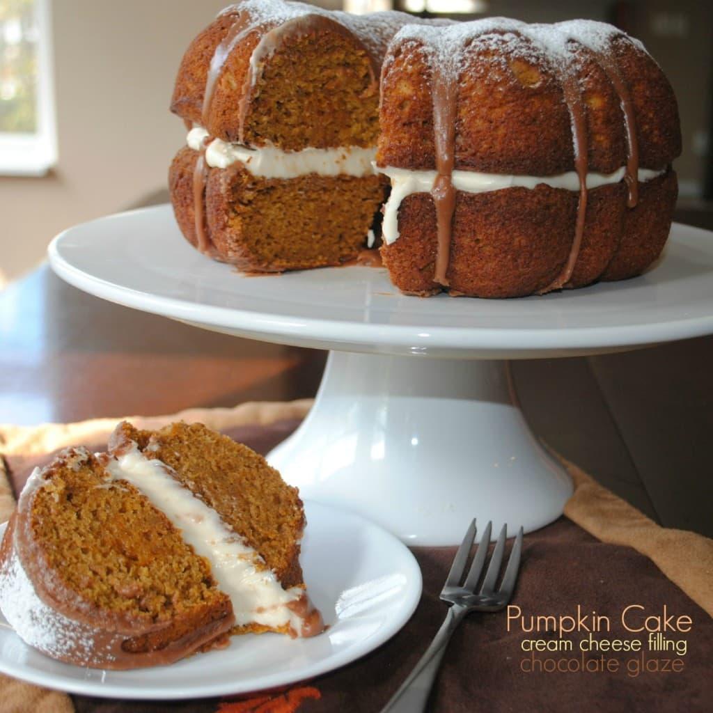 Pumpkin Cake with Ganache