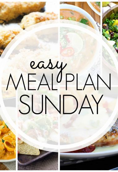 Easy Meal Plan Sunday {Week 66}
