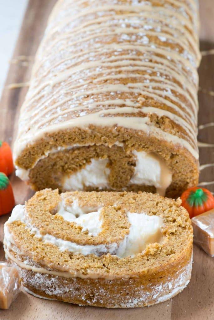 Caramel Pumpkin Cake Roll