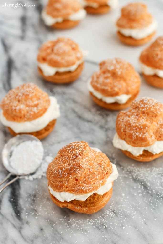 Pumpkin Pie Cream Puffs