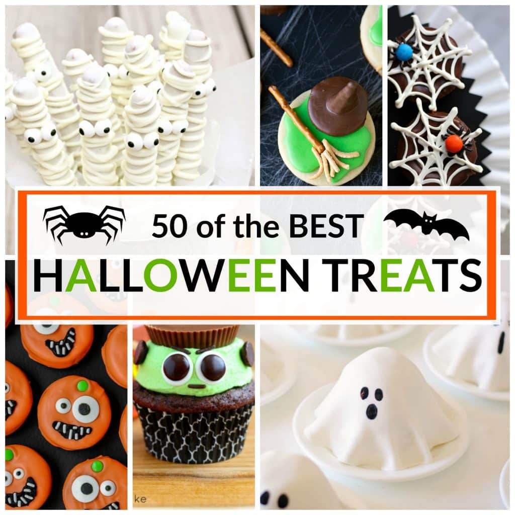 Make something SPOOKTACULAR with one of these 50 of the Best Halloween Treats. All of your little goblins will love eating one or two of these.