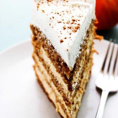 Pumpkin Spice Cheesecake Cake