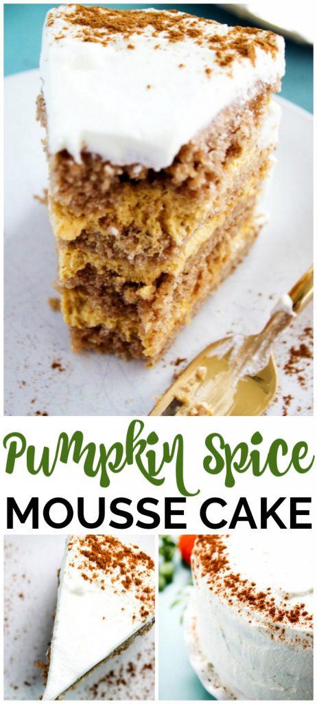 Pumpkin Spice Mousse Cake pinterest image