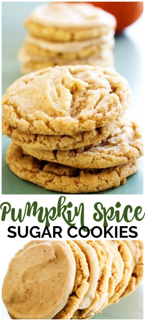 Pumpkin Spice Sugar Cookiespinterest image