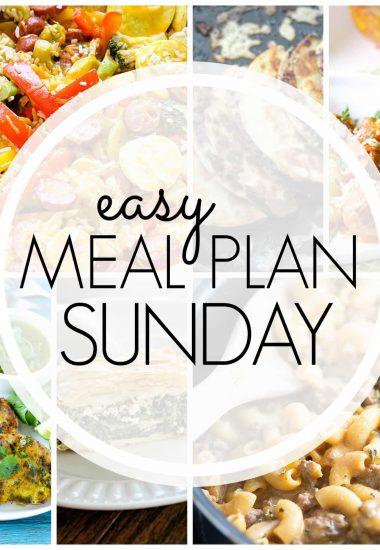 Easy Meal Plan Sunday {Week 67}